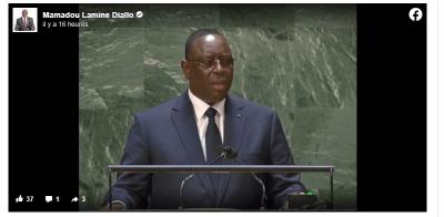 Tribune de l'ONU : Mamadou L. Diallo dénonce la posture de Macky Sall