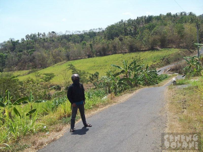 Jalan Menuju Waduk Mini Embung Kleco Kulon Progo