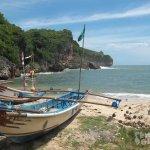 Perahu Nelayan Pantai Gesing Gunungkidul