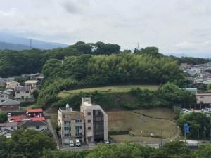 小田原城の天守から見た石垣山城