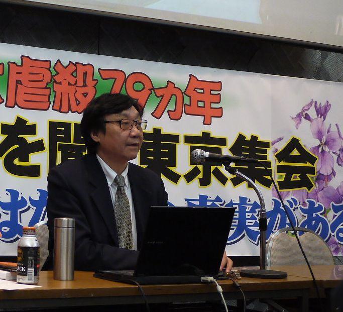 前南京大虐殺紀念館館長の朱成山さん