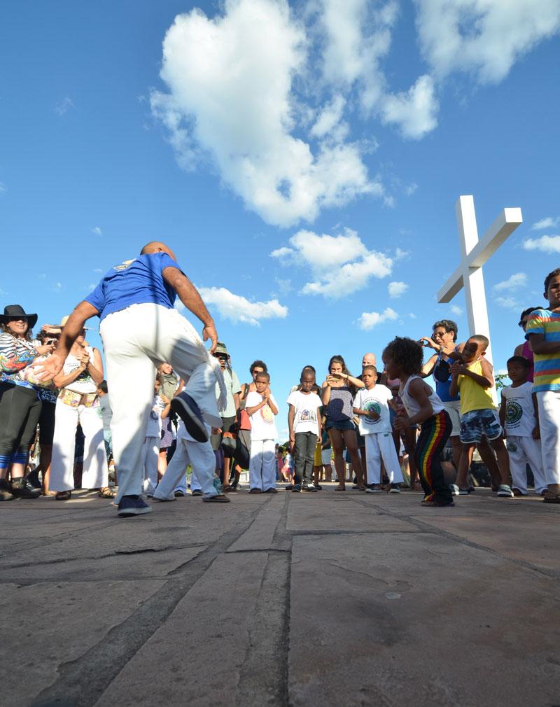 Mestre Cascudo em roda em dia de festa de Senhor dos Passos. Foto: Zé Henrique Freire