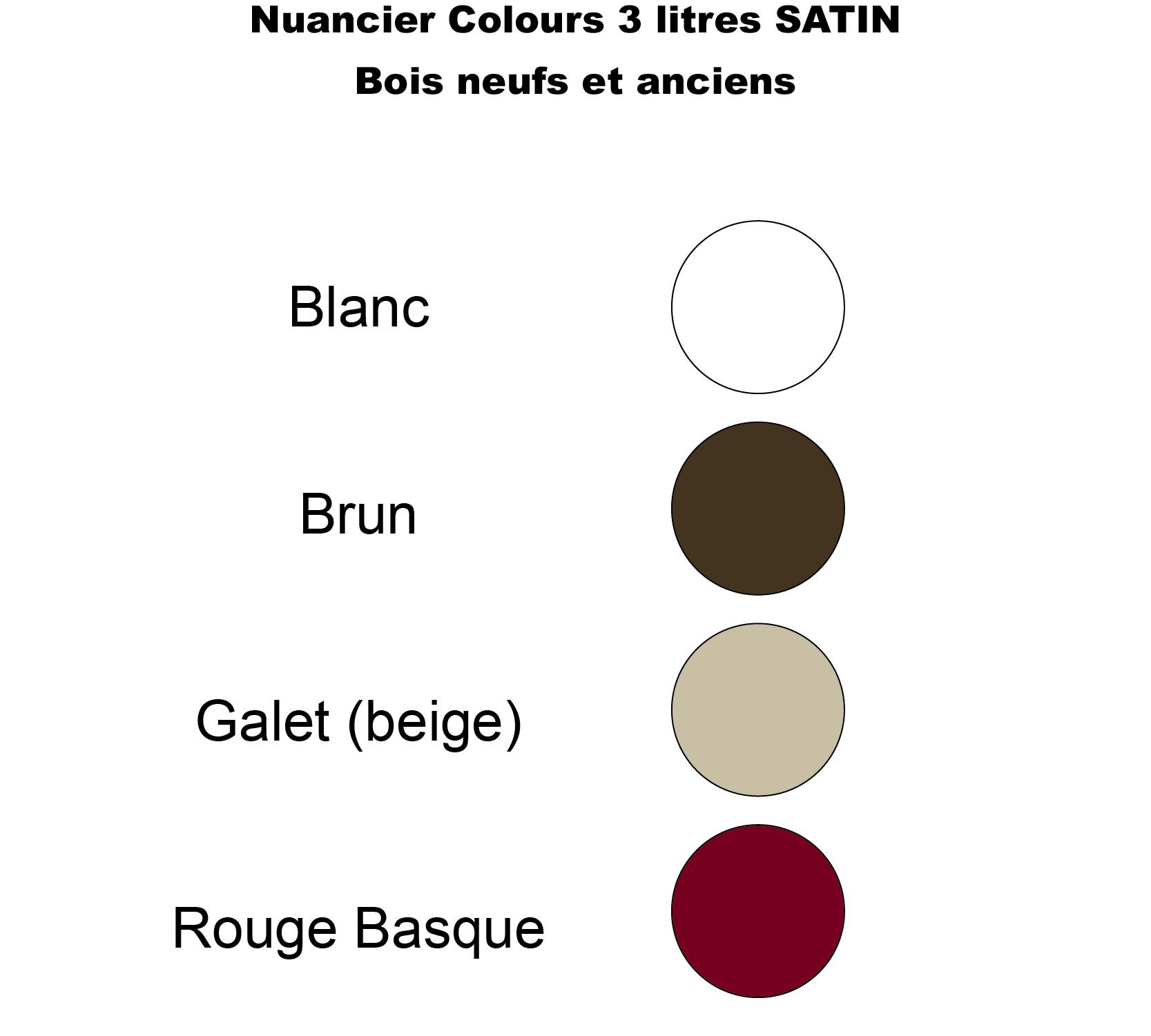 Peinture Bois Extérieur Satin Sans Sous Couche 3 Litres