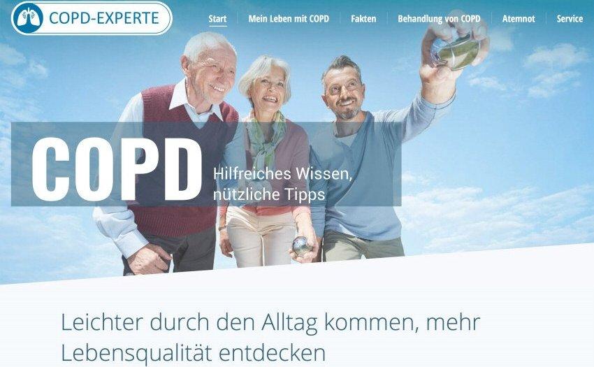 Neue Website für COPD-Erkrankte