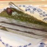 抹茶と小豆のミルクレープ 2016秋ドトール新作ケーキ食べてみた