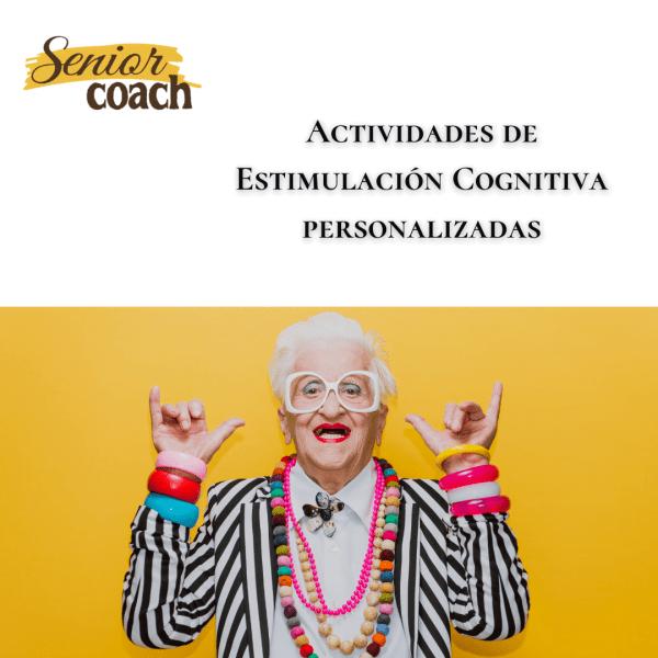 Material y actividades de estimulación cognitiva para personas mayores personalizado.