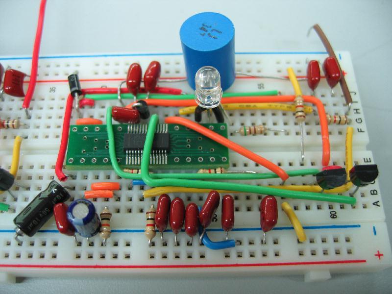 Avr Test Circuit On A Breadboard