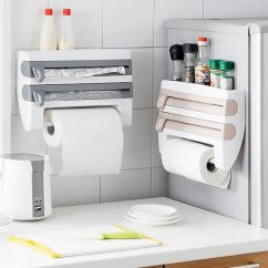 Kitchen Organizer Windsor Chairs 59 Off W Paper Towel Plastic Wrap Holder Senior Discounts Club