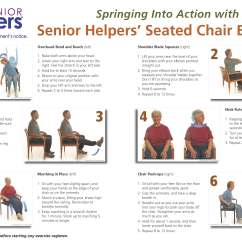 Yoga Chair Exercises For Seniors Baby Chairs Toys R Us Spring Into Action With Seated Excercises Senior Helpers Image