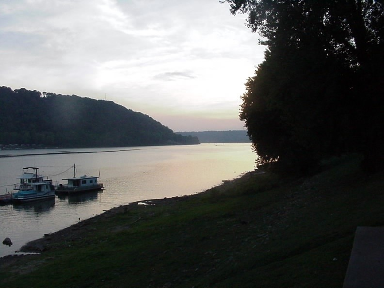 The Ohio River, Madison, Indiana.  August, 2008.
