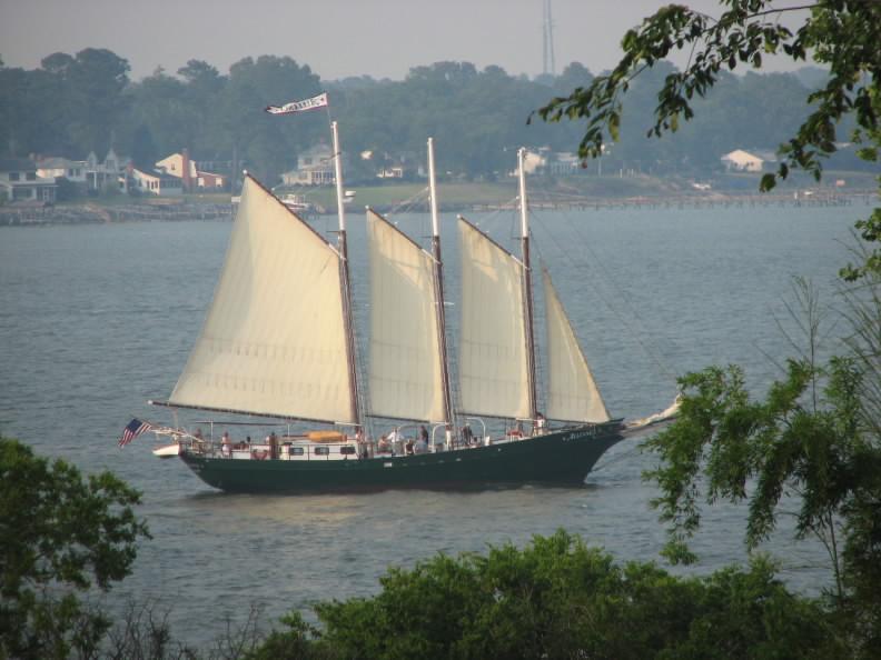 The schooner Alliance, Yorktown, Virginia.  June 19, 2007.