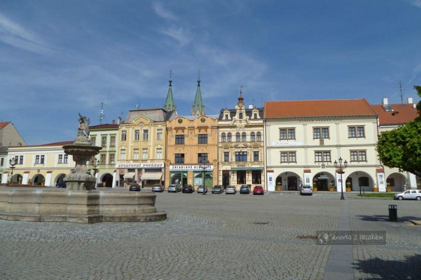 Fontanna na rynku w Kromeriż