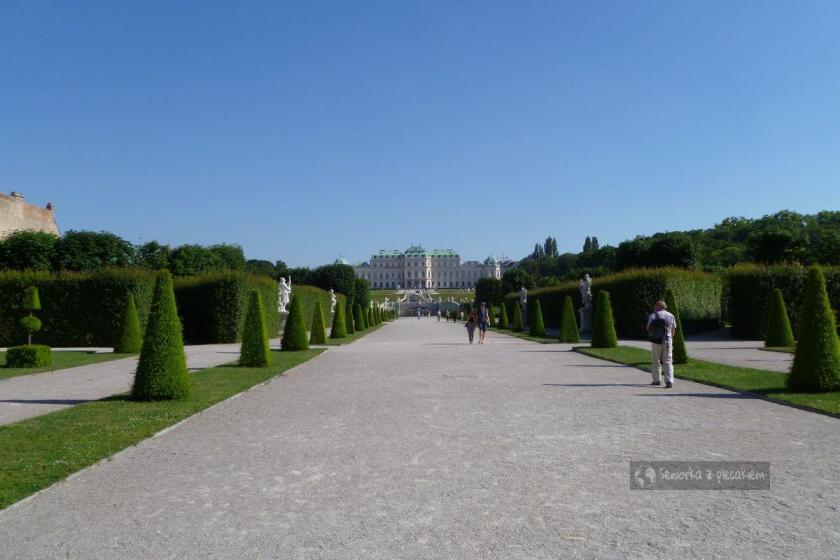 Widok na Górny Belweder w Wiedniu