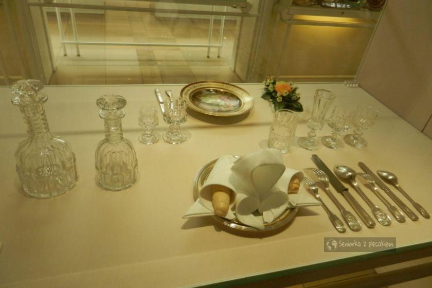 Nakrycie stołu w muzeum w Hofburgu