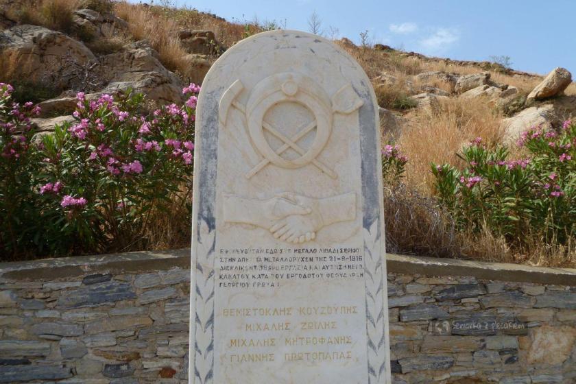 Pomnik upamiętniający walki górników w 1916 r. w Megalo Livadi