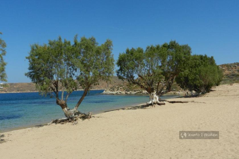 Plaża w Livadi na Serifos w archipelagu Cyklad