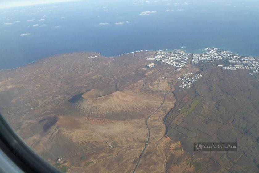 Widok z lotu ptaka na Lanzarote