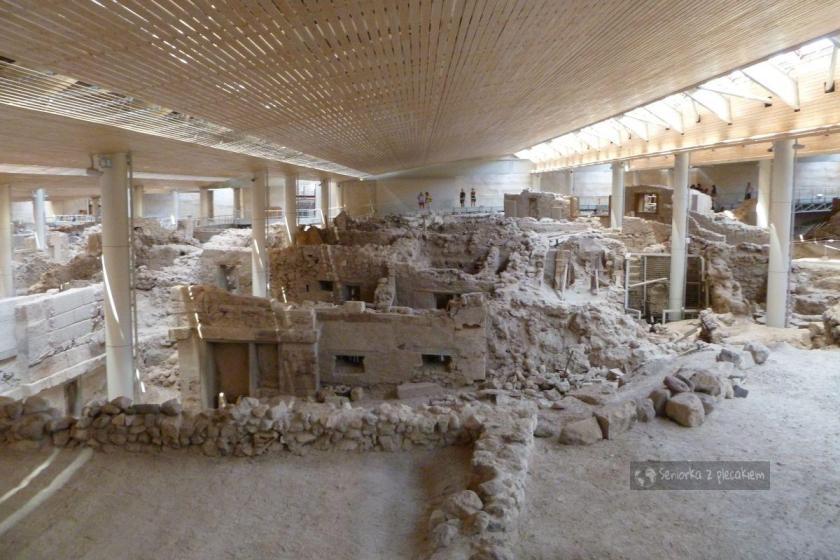 Starożytne wykopaliska w Akrotiri