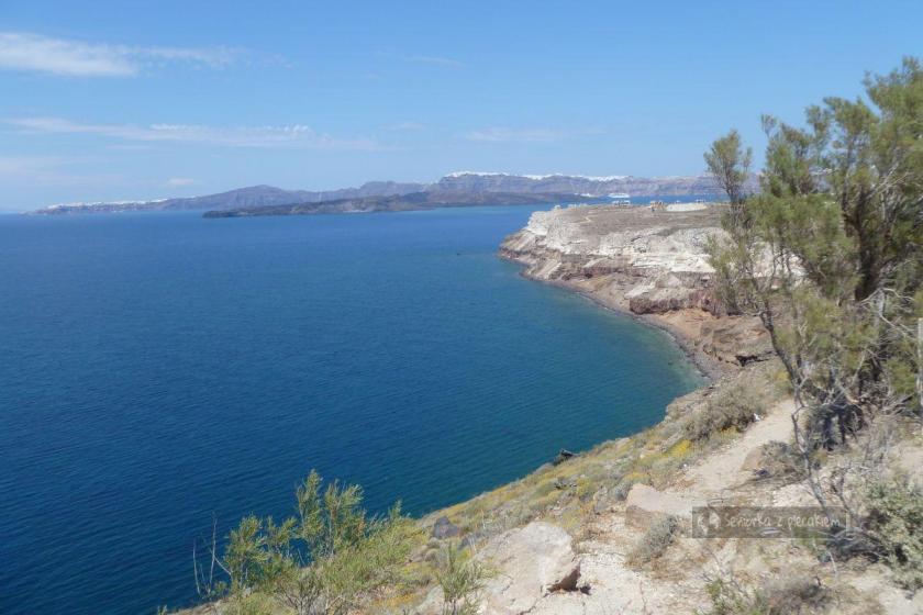 Widok na kalderę Santorini