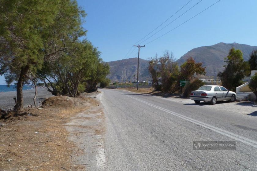 Droga na Santorini