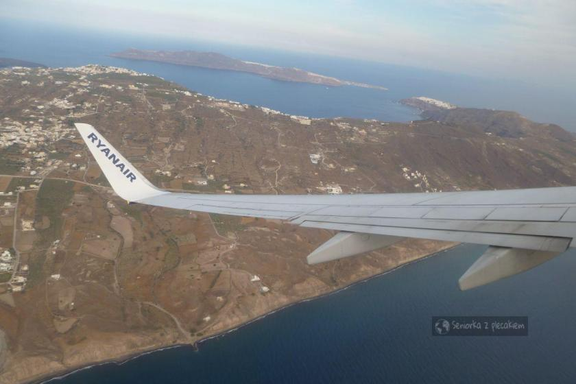 Przelot z Santorini do Aten