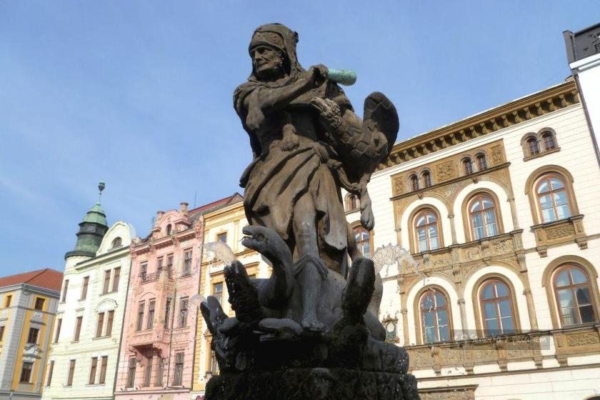 Ołomuniec - Górny Rynek - Fontanna Herkulesa