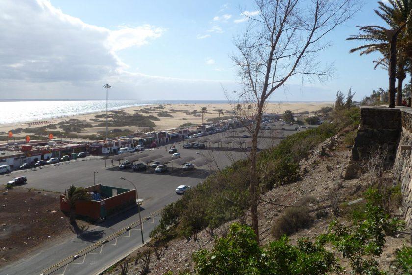 Playa de Ingles - widok na wydmy