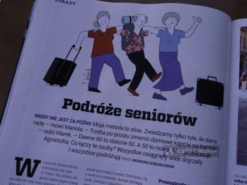 """Ja w magazynie """"Podróże"""""""