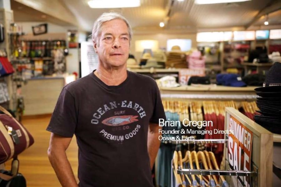 photo of brian cregan the founder of ocean and earth surf company