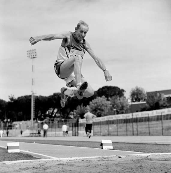 Long Jumper, 80-84 division. Riccione, Italy. 2007.