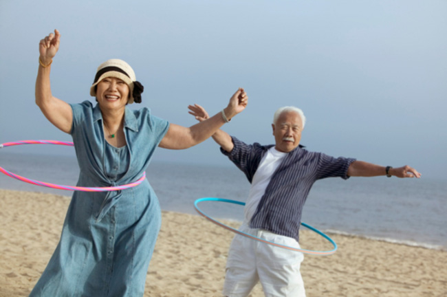 active-senior-couple-hula