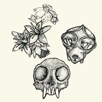 skulls and weeds