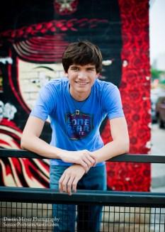 Male teen model senior portraits photo graffiti wall South Congress
