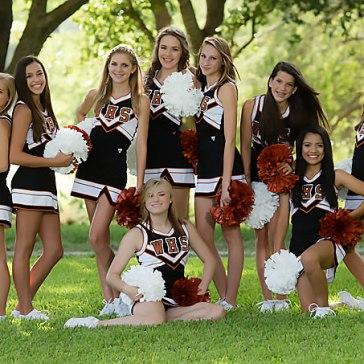 cheerleader team squad photo senior portraits austin texas