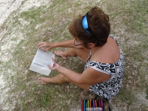 Blogueuse en activité sur l'Île des Pins