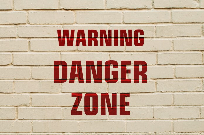 danger zones