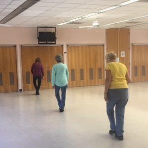 People line dancing