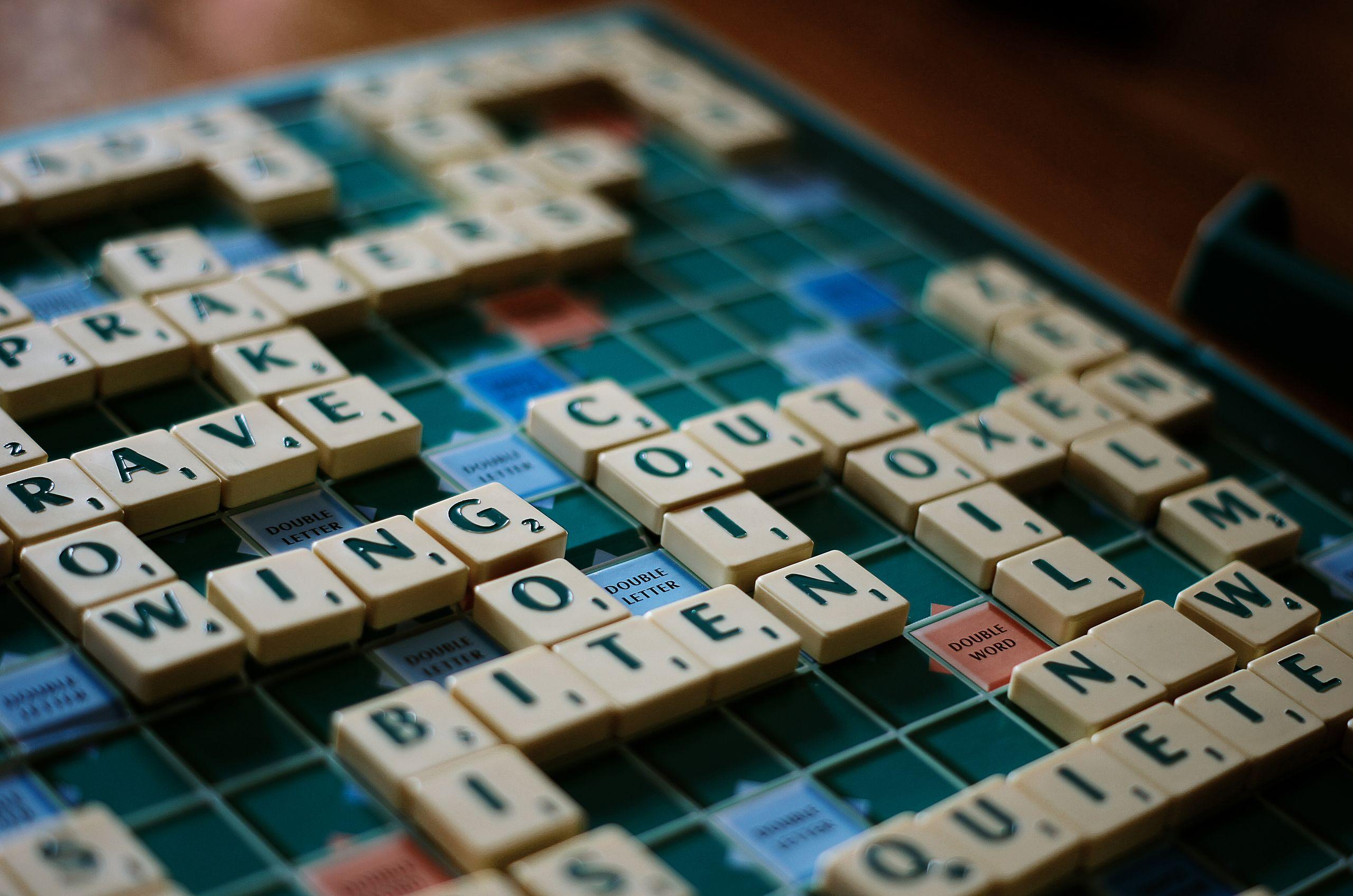 scrabble game tiles