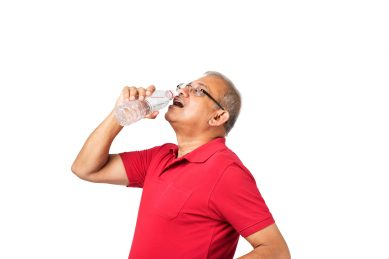 Drink as much water as your thirst tells you to, but increase intake if you have had kidney stones in the past