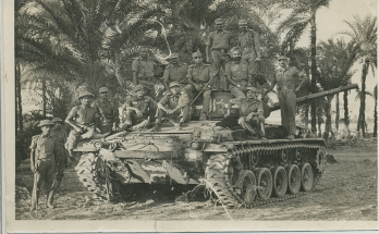 OPENING PICTURE, CAPTION - Victors with their war booty, a Chaffee tank