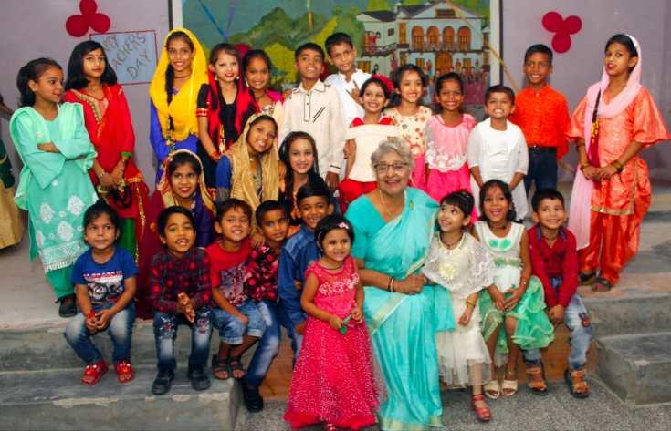 Lalita Arya with Students