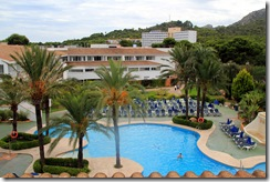 Beach Club Font de sa Cala, view from my room