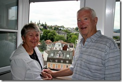 Jane and Jack Buffington, ran into them in Baden-Baden