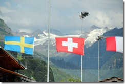 Glacier behind the Courts, Swiss Flag