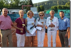 Women's 70 Singles semis, final and champion: Hancy, Garaguly, Orth, Bichon