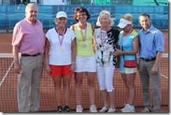 Women's 55 doubles champions, finalists