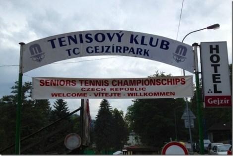 tennis club sign