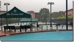 rain by pool