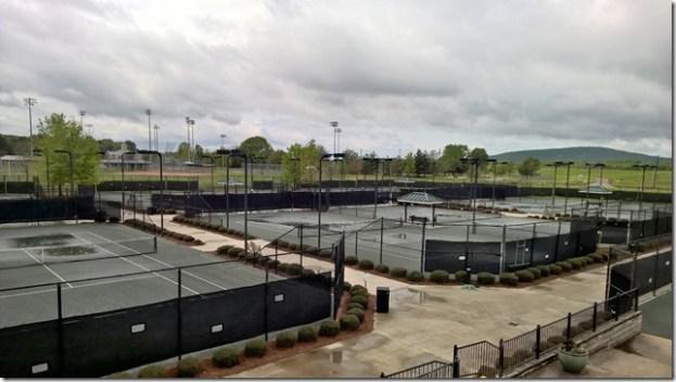 Tues rain courts