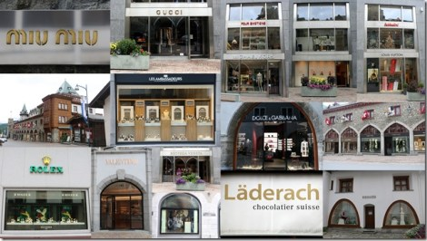 collage of fancy stores